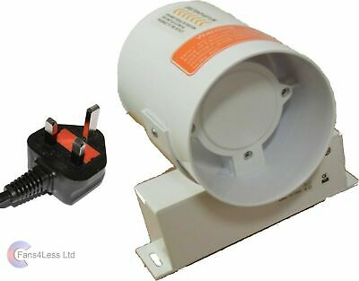 """Hydroponic Grow Room Fan Tent Inline Extractor for Carbon Filter 4 5 6"""" UK Plug"""