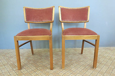 2 Chairs, 40s 50s Rockabilly Retro DINNING CHAIR FAUTEUIL Vintage