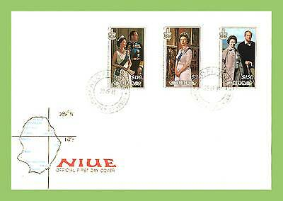 Niue 1986 QEII Birthday set First Day Cover