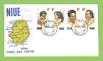 Niue 1971 Headress set on First Day Cover