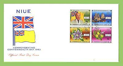 Niue 1983 Commonwealth Day set  First Day Cover