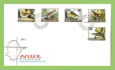 Niue 1985 Birds set on First Day Cover