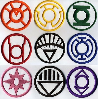 "Blackest Night Lantern Corps Classic Style 2.5"" Patch Set - 9 patch set"