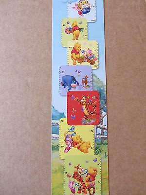 Winnie The Pooh Self Adhesive Childrens Wall Height Chart Pink Sticker 00000377