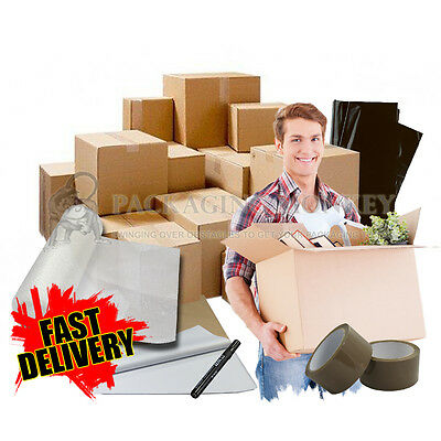 Giant Size Cardboard Boxes House Moving Removal Packing Kit - 68 Cubic Ft Offer