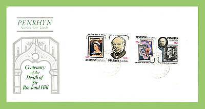 Penrhyn Is. 1979 Rowland Hill set First Day Cover