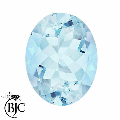 BJC® Loose Oval Cut Natural Untreated Aquamarine Stones AA Grade Multiple Sizes