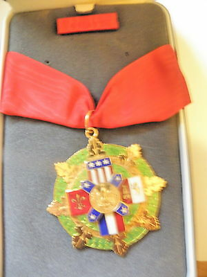 Louisiana Medal Of Honor State Ng Medal With Case And Breast Ribbon