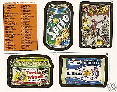2006 WACKY PACKAGES Series 3 Complete Set   55 Cards