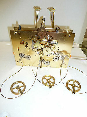 NEW HERMLE 1161-853/94 cm GRANDFATHER  TRIPLE CHIME MOVEMENT WITH NIGHT OFF