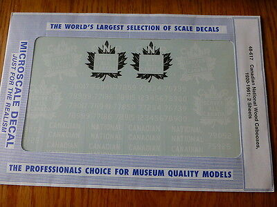 Microscale O #48-617 Canadian National Wood Cabooses, 1920 - 1961 (2 Sheets)