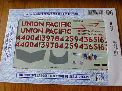 Microscale O #48-705 Union Pacific SD70Ms (2000+) Decal Sheet