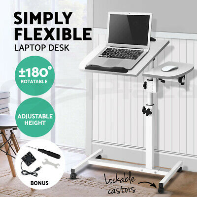Mobile Laptop Desk Adjustable Notebook Computer iPad PC Stand Table Tray