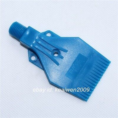10pcs Blue ABS Air Blower Air Nozzle Air Knife Wind 1/4'' bspt Plastic 3holes