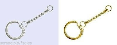 KEY CHAINS with Snake Chain w// Locking Snap End ~ 20mm Ring ~Add Beads //or As-is