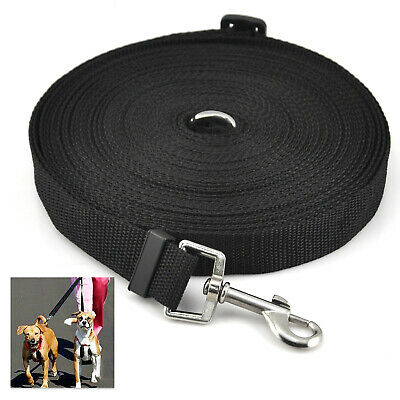 DIGIFLEX Dog Puppy Pet Training Lead 50ft Long Line Black Collar Harness