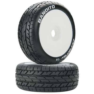 NEW Duratrax 1/8 Bandito Buggy Tire C2 Mounted White (2) DTXC3638