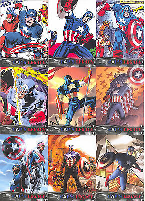 Captain America Winter Soldier Cap's Legacy Insert Card Set Cl-1 - Cl-9 Marvel