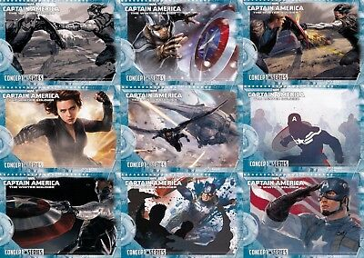 Captain America Winter Soldier Concept Series Insert Card Set Cs-1 To 27 Marvel