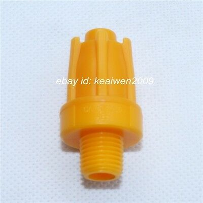 5pcs YELLOW ABS Air Blower Air Nozzle Air Knife Wind Nozzle 1/4'' bspt Round