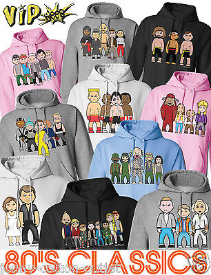 VIPwees Unisex Hoodie 80`s Classic Movies Caricatures Inspired Choose Design
