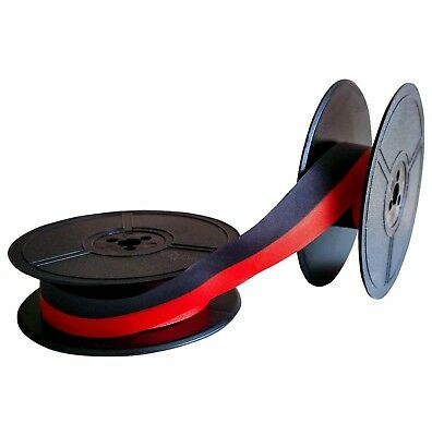 Olympia Splendid 33 66 99 Twin Spool. Black/Red. Fabric Typewriter Ribbon 1001FN