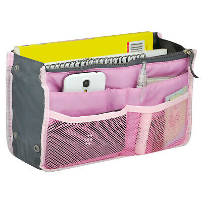 Travel Cosmetics Pouch Bag Insert Organiser for MUA Pink - By TRIXES