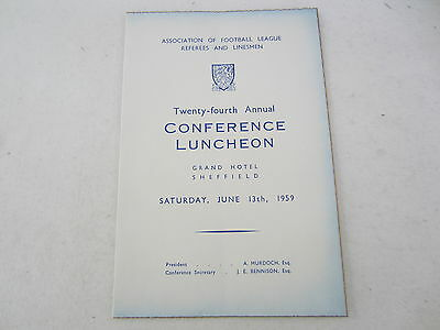 1959 Association Of Football League Referees & Linesmen 24Th Conference Luncheon