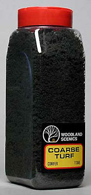 NEW Woodland Scenics Turf Coarse Conifer 32 oz T1366