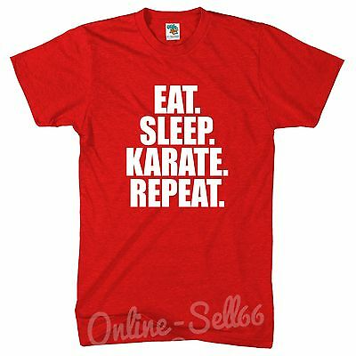 Eat Sleep Karate Repeat Mens Black Belt Fight Competition Tshirt tshirt Cage