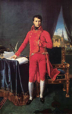 Art oil painting male portrait napoleon bonaparte-as-first-consul in red canvas