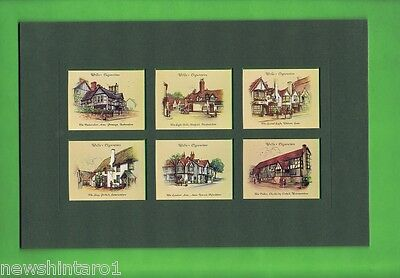 Six  Mounted Old Inns  Cards