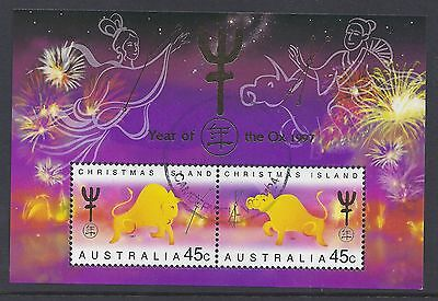 1997 Christmas Island Year Of The Ox Minisheet Fine Used
