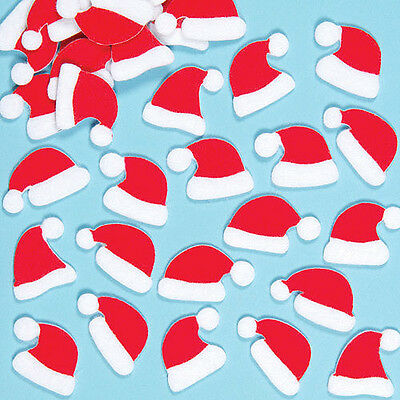 Christmas Children's Crafts Santa Hat Felt Stickers (Pack of 100)