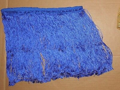 NWOT Fringe skirt 12-15 inches adult ladies Dance Costume Royal Blue