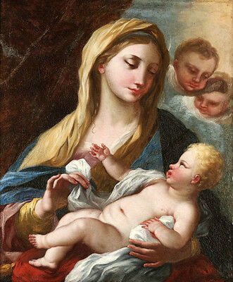 """Wonderful Oil painting The Madonna and Child The Virgin Mary with children 36"""""""