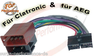 AEG / PROLOGY CLATRONIC Autoradio Kabel Radio Adapter Iso - Stecker