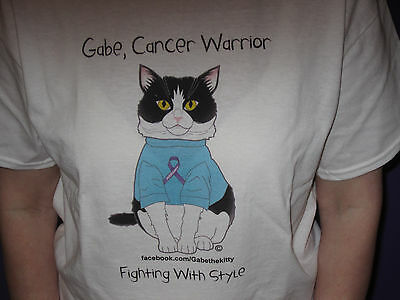 Gabe, Cancer Warrior; Fighting with Style; PURRsevere; T-Shirt, Cat Rescue