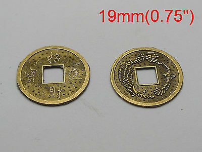 """50 Feng Shui Coins 19mm 0.75"""" Lucky Chinese Fortune Coin I Ching"""