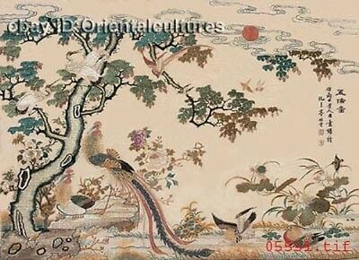 """Chinese Natural 100% real Silk thread,Hand Embroidery Kits:phenix birds 16"""""""