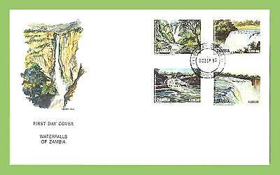 Zambia 1993 Waterfalls set on First Day Cover