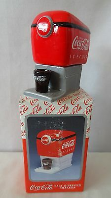 Enesco 1997 Old Coca Cola Machine Salt & Pepper Shaker MIB #G433