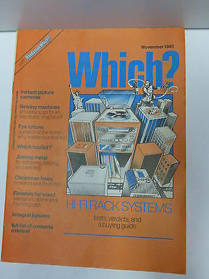 Which ? Magazine November 1981 collectible Business