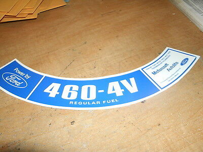 1974 1975 Lincoln Continental 460 4V 4Bbl Air Cleaner Lid Decal