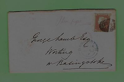#d115. Postal History - 1852 Envelope With Great Britain  Penny Brown Stamp
