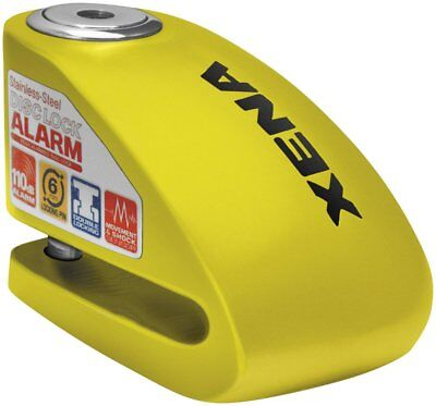 Xena Security XX6 Disc-Lock with Alarm with 6mm Pin Yellow