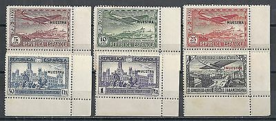 Spain stamps 1931 MI 592-597 ovpt MUESTRA   MLH  F/VF  Airmail