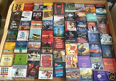 Wholesale Lot  25 New Fiction Audiobooks on CD All Unique Titles 80% Unabridged