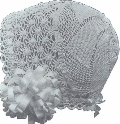 Vintage Antique Crochet PATTERN to make 1915 Baby Cap Hat Bonnet Trumpet Design