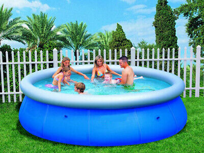 10Ft Easy Fast Set Prompt Swimming Pool Paddling Family Inflatable Blue Round